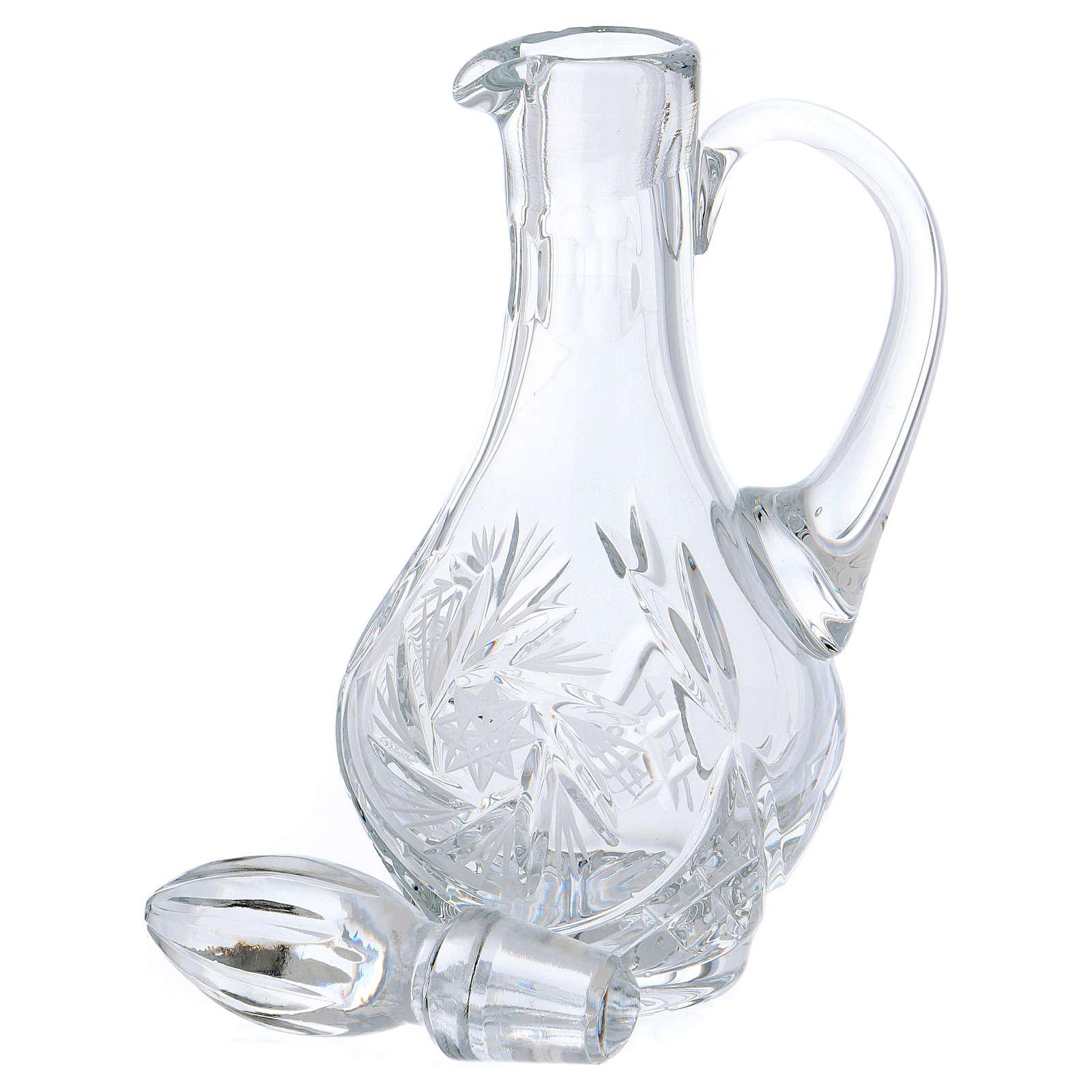 Servicio vinajeras de cristal 4