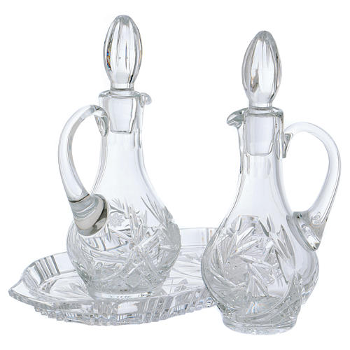 Servicio vinajeras de cristal 2