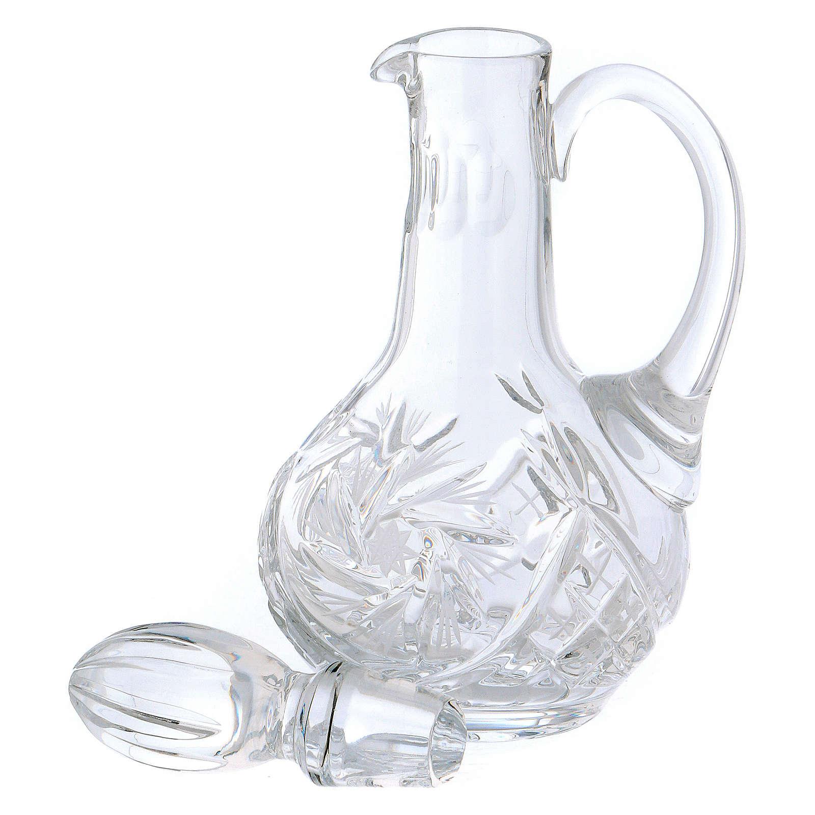 Set vinajeras cristal misa 160 ml. 4
