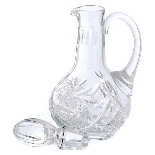 Set vinajeras cristal misa 160 ml. 3