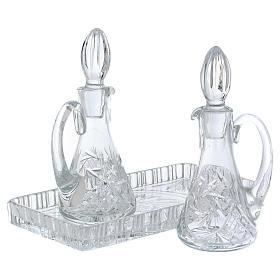 Set vinajeras misa cristal bandeja rectangular s2