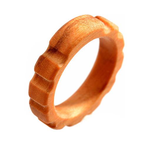Rosario anello legno d'olivo 1