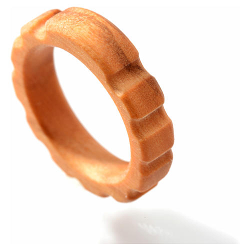 Terço anel madeira de oliveira 2