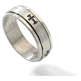 Stainless steel rotating ring with cross s2