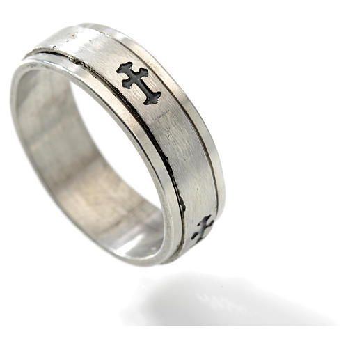 Stainless steel rotating ring with cross 2