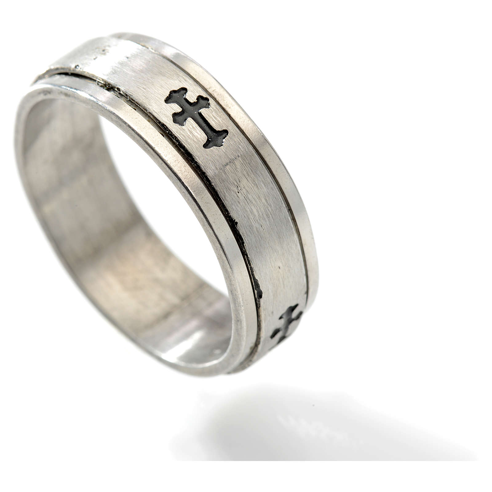 Stainless steel rotating ring with cross 3