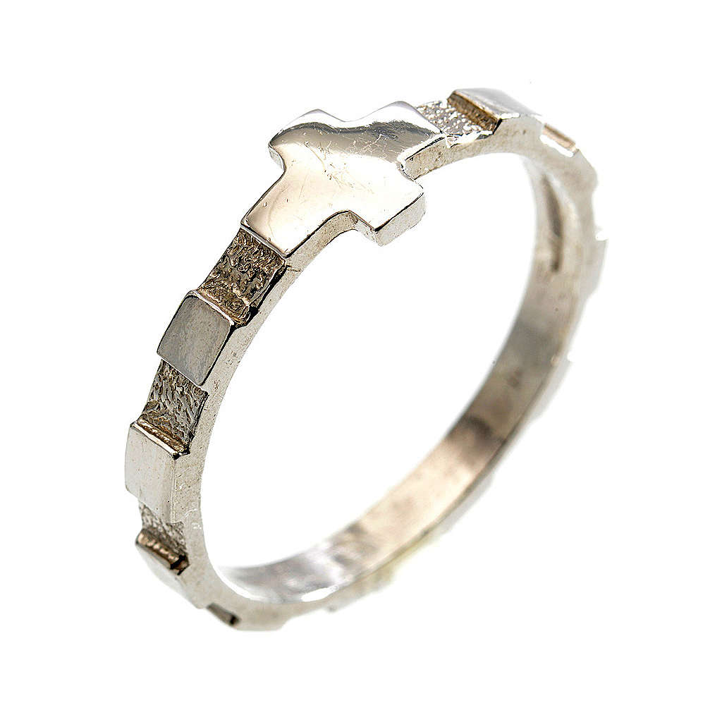 Terço anel dezena prata 925 3