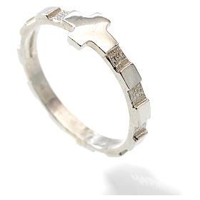 Terço anel dezena prata 925 s2