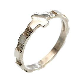 Terço anel dezena prata 925 s1