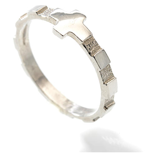 Terço anel dezena prata 925 2