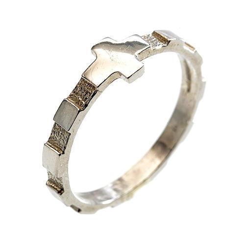 Terço anel dezena prata 925 1