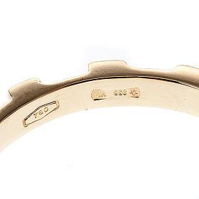 Rosary ring gold 18K s3