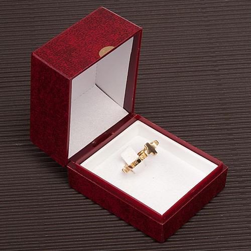 Obrączka dziesiatka różanca złoto 18k 2