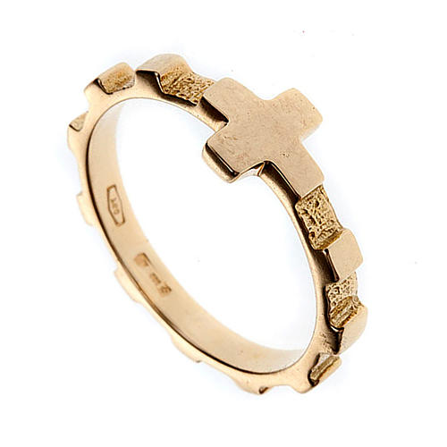 Rosary ring gold 18K 1