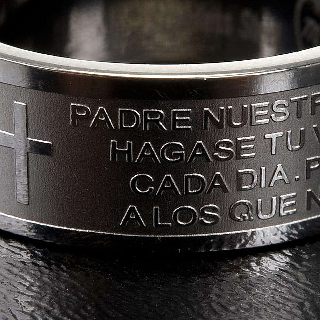 Gebetsring Vater Unser Spanisch Edelstahl 3