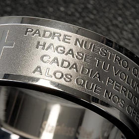 Our Father prayer ring in Spanish - stainless steel LUX s4