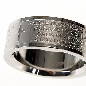 Our Father prayer ring in Spanish - stainless steel LUX s5