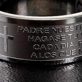 Pierścionek z modlitwą po hiszpańsku Ojcze Nasz Inox s2