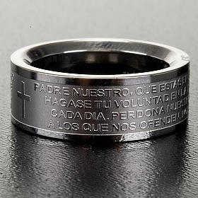 Our Father prayer ring in Spanish - stainless steel LUX s3