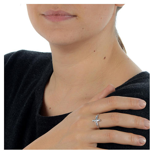 Ring mit Kruzifixe Silber 925 2