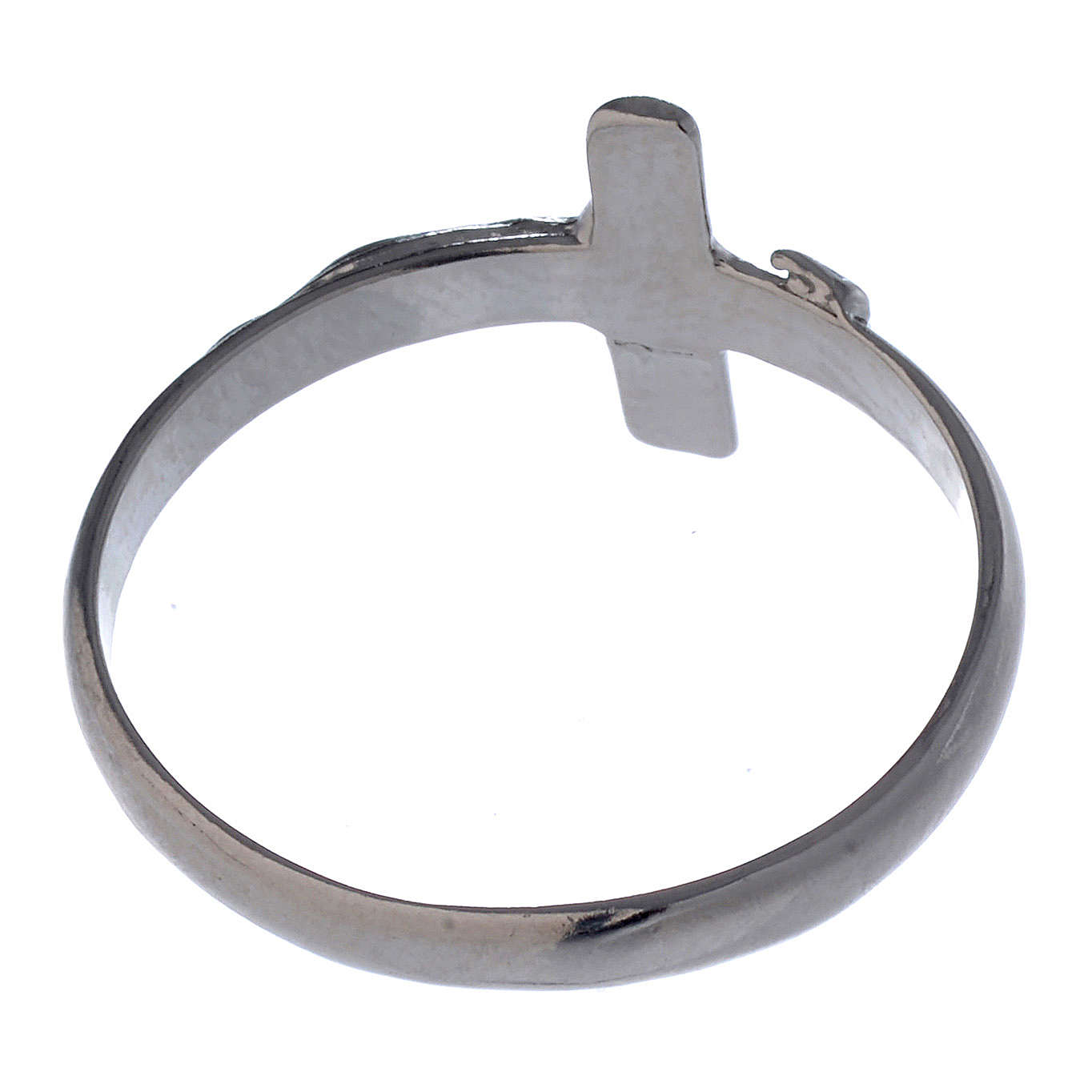 Silver ring with crucifix 3
