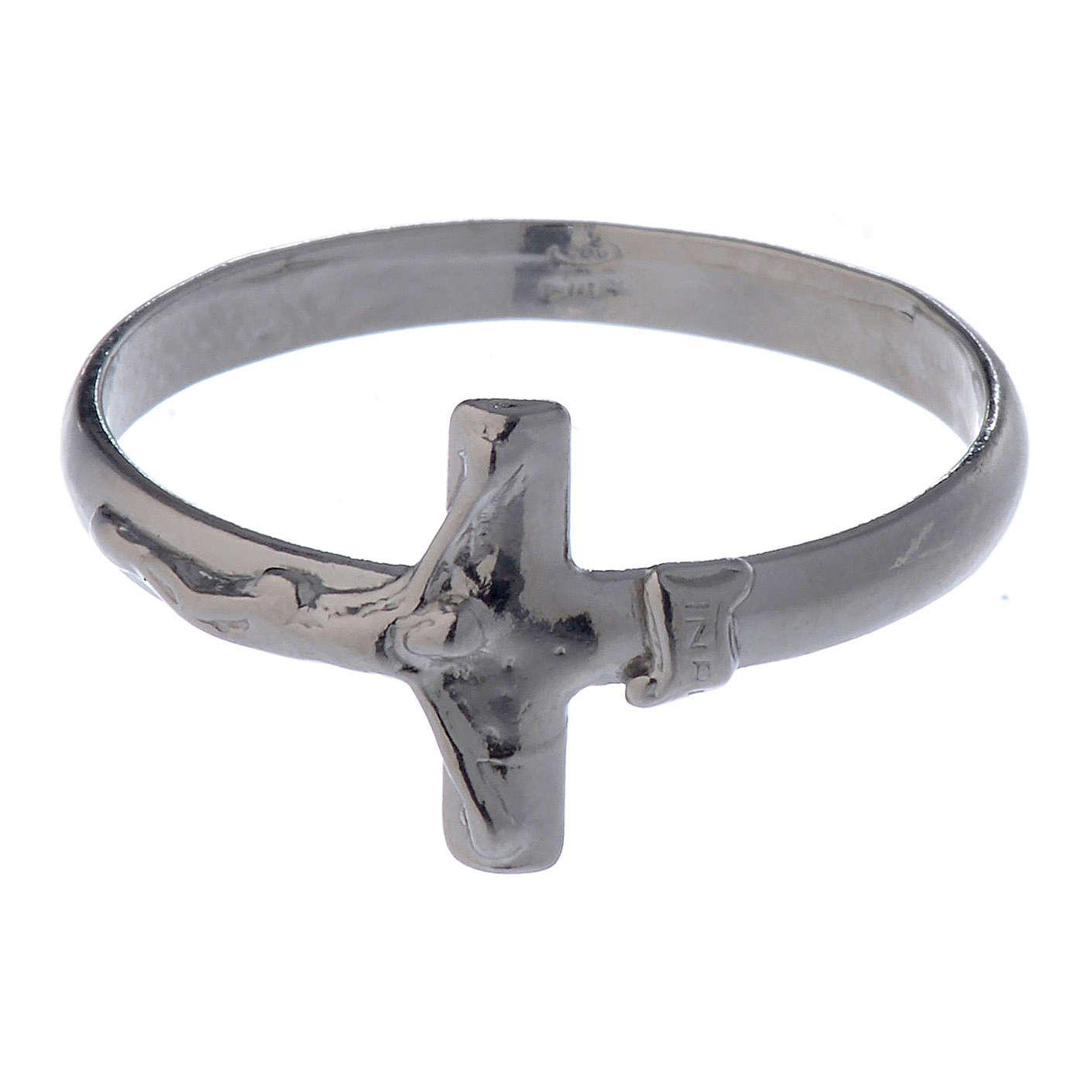 Pierścionek z krzyżem srebro 925 3