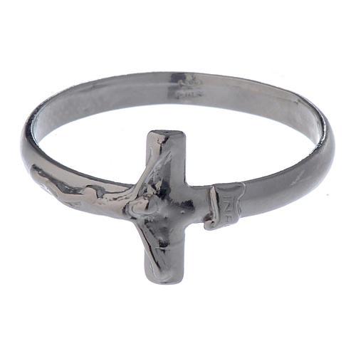 Pierścionek z krzyżem srebro 925 4