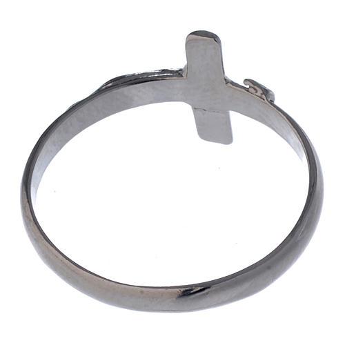 Anel prata 925 com cruz 5