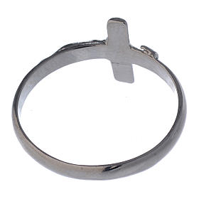 Silver ring with crucifix s5