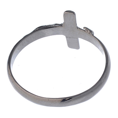 Silver ring with crucifix 5