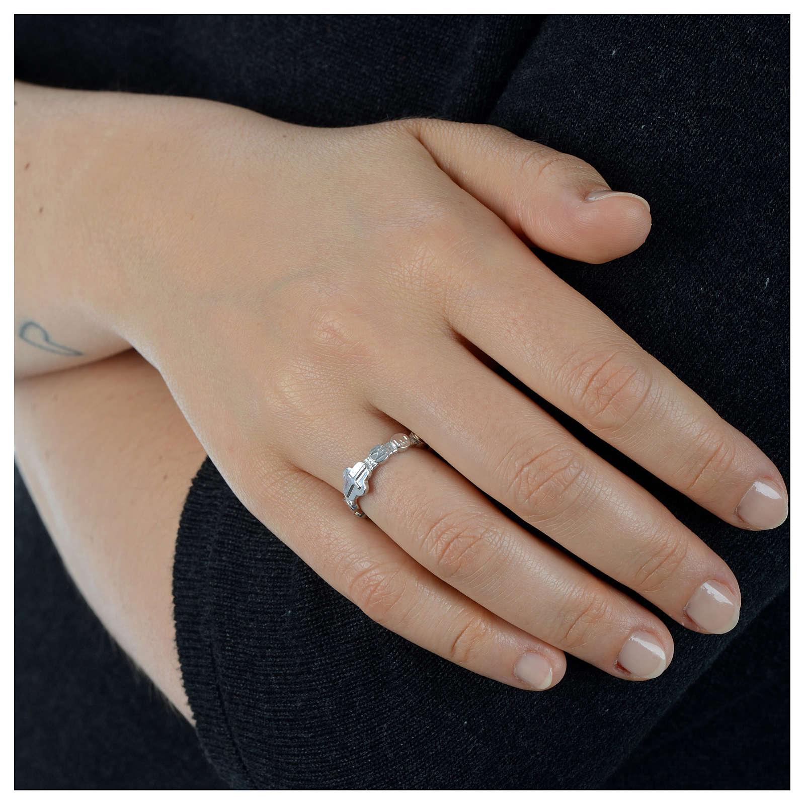 Rosenkranz Ring Medugorje Silber 800 3