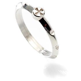 Rosario anillo plata decena  925 con cruz s2