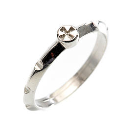 Rosario anillo plata decena  925 con cruz s1