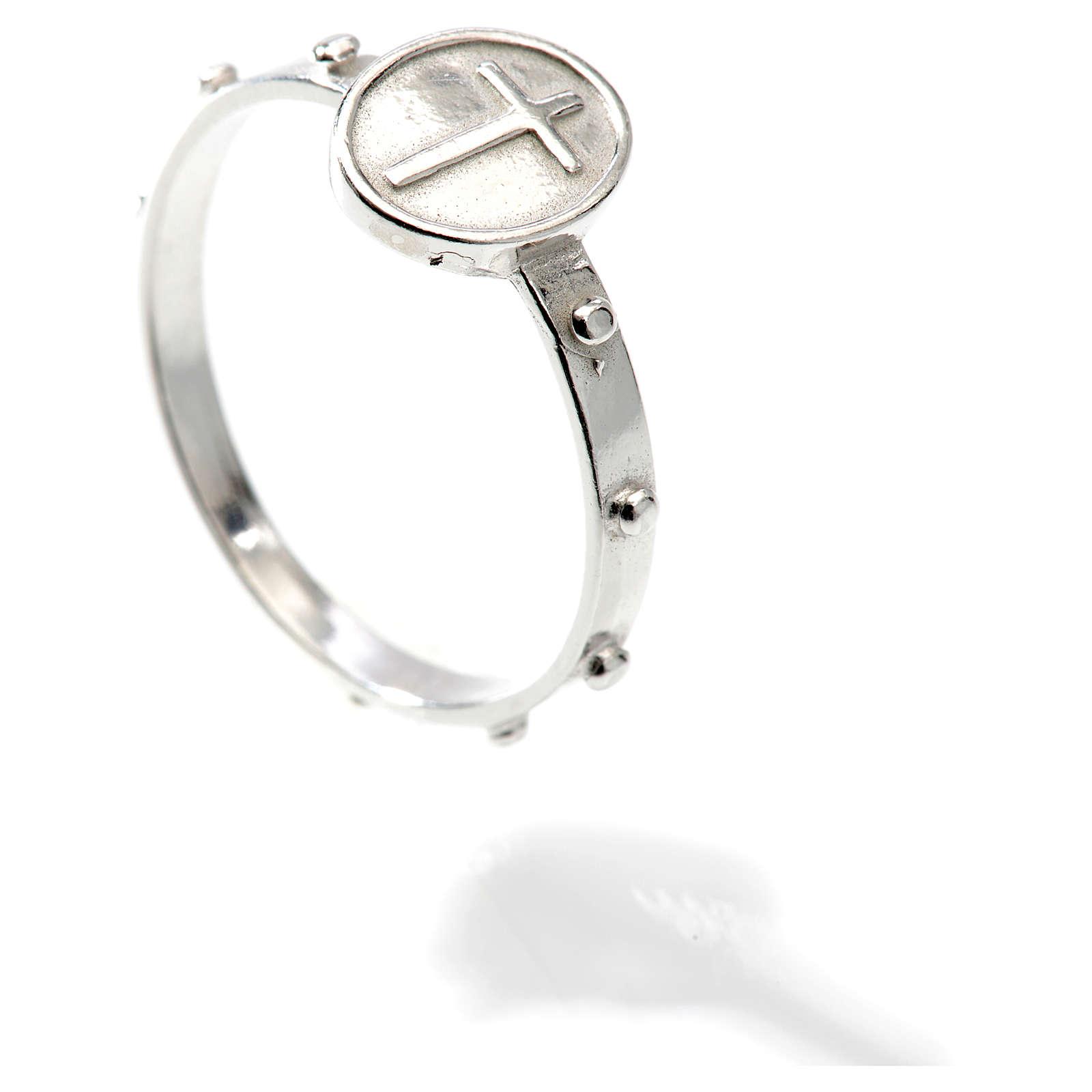 Obrączka dziesiątka różańca srebro 925 3