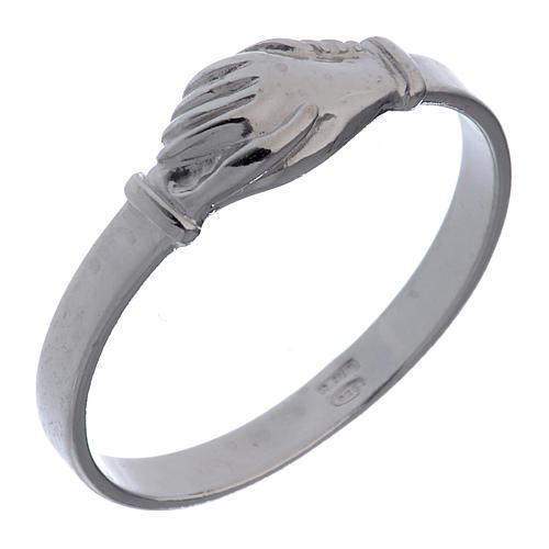Rosenkranz Ring Heilige Rita Silber 925 1