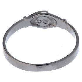 Saint Rita ring in 925 silver with shaking hands s5