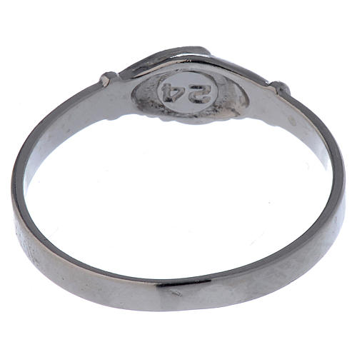 Saint Rita ring in 925 silver with shaking hands 5
