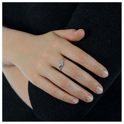 Pierścionek Dłonie srebro 925 3