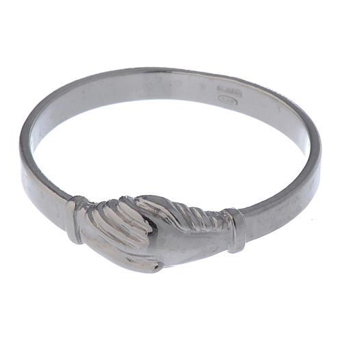 Pierścionek Dłonie srebro 925 4