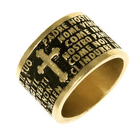 Prayer ring Our Father in bronze - ITALIAN s1