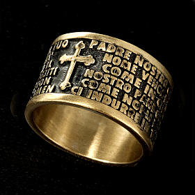 Prayer ring Our Father in bronze - ITALIAN s2