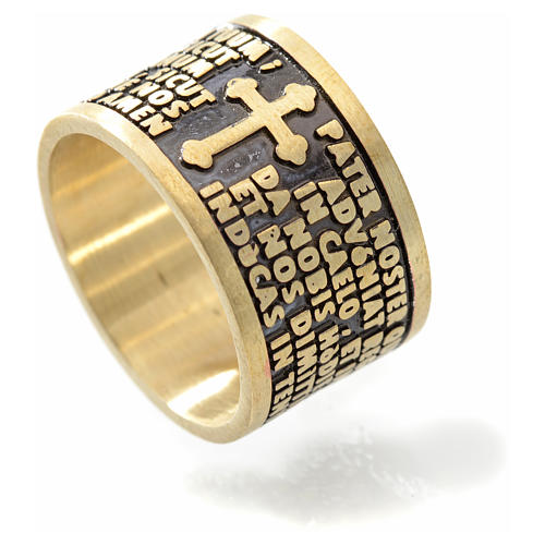 Prayer ring Our Father in bronze - ITALIAN 3