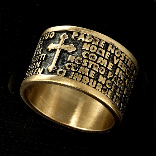 Prayer ring Our Father in bronze - ITALIAN 2