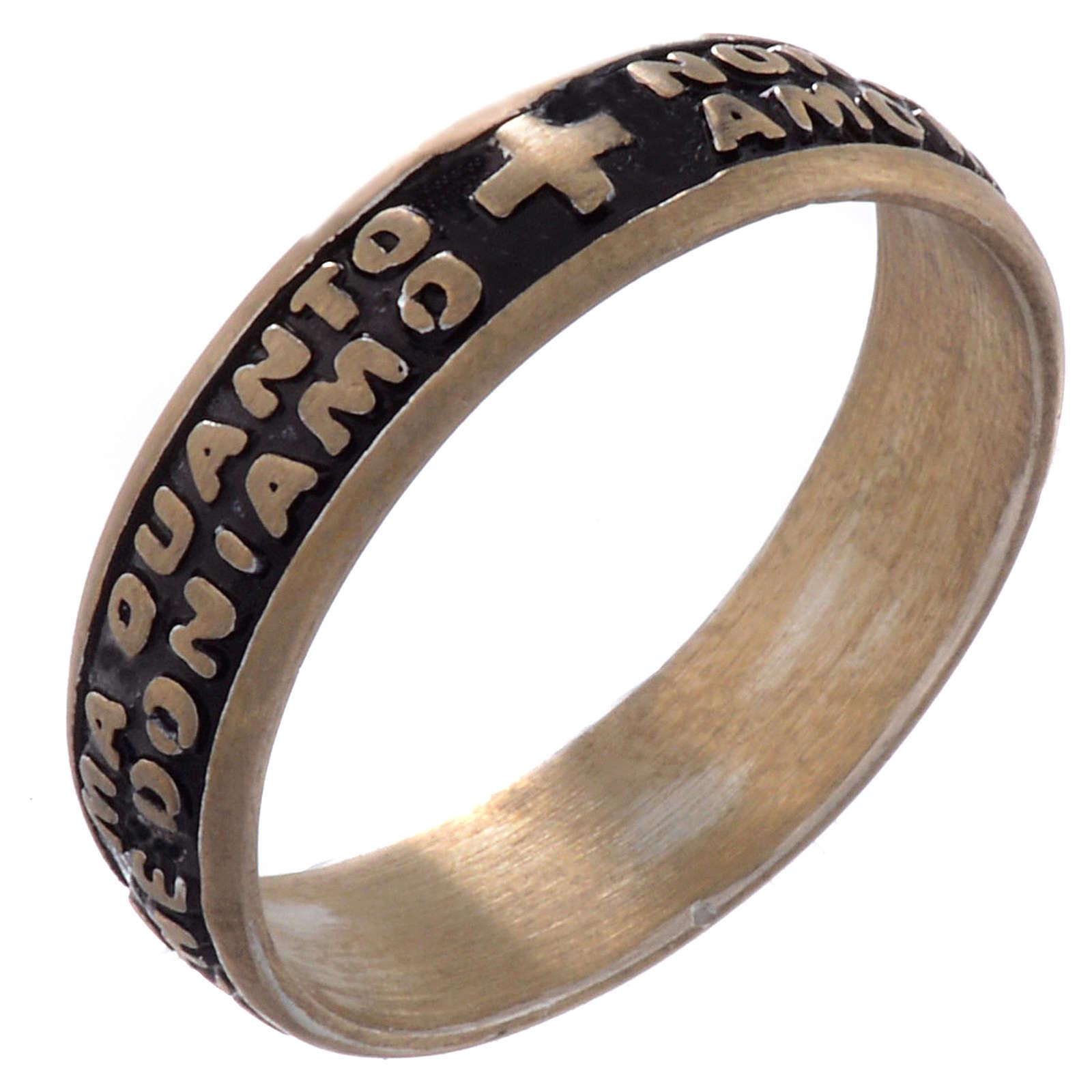 Mother Teresa ring in bronze - ITALIAN 3