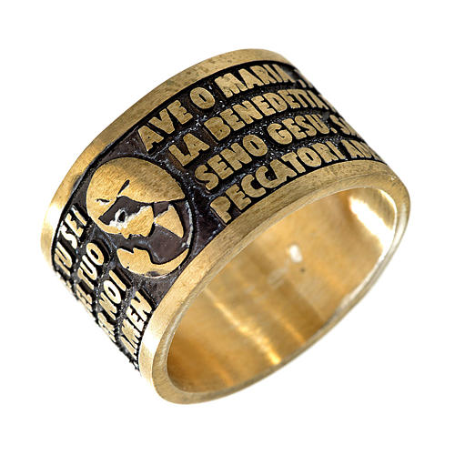 Ave Maria bronze prayer ring - ITALIAN 1