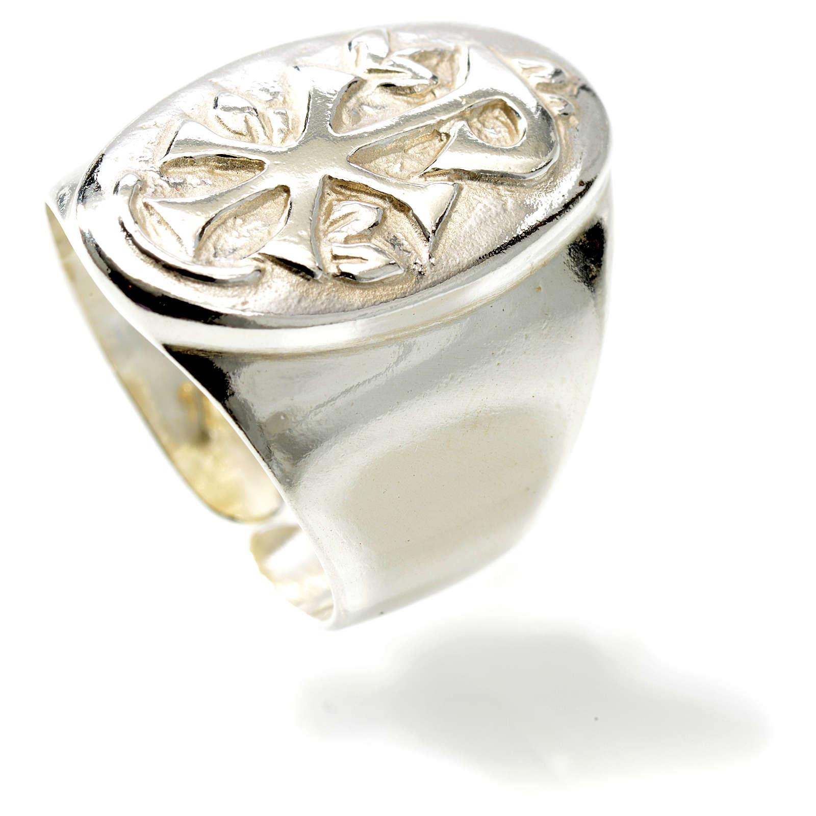 Chi-Rho silver ring 3