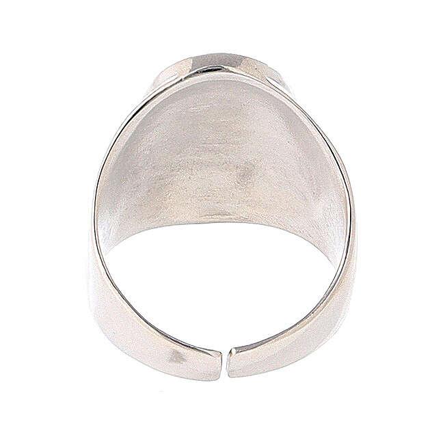 Anel episcopal prata 925 Chi-Rho regulável 3