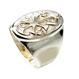 Chi-Rho silver ring s1