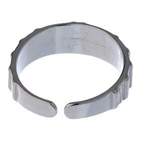 Anel prata 925 cruz regulável s5