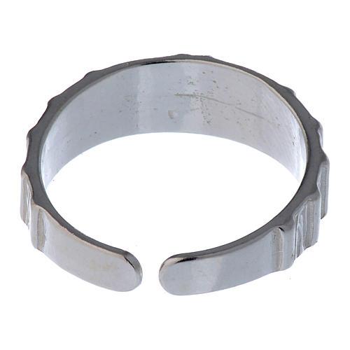 Anel prata 925 cruz regulável 5